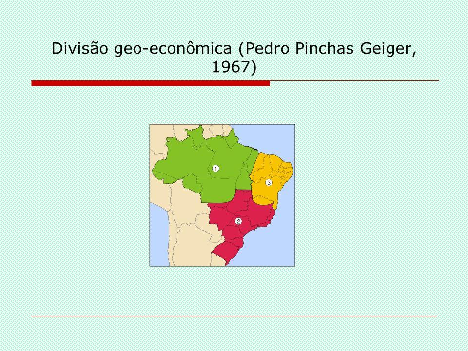 A divisão regional do IBGE - 1969