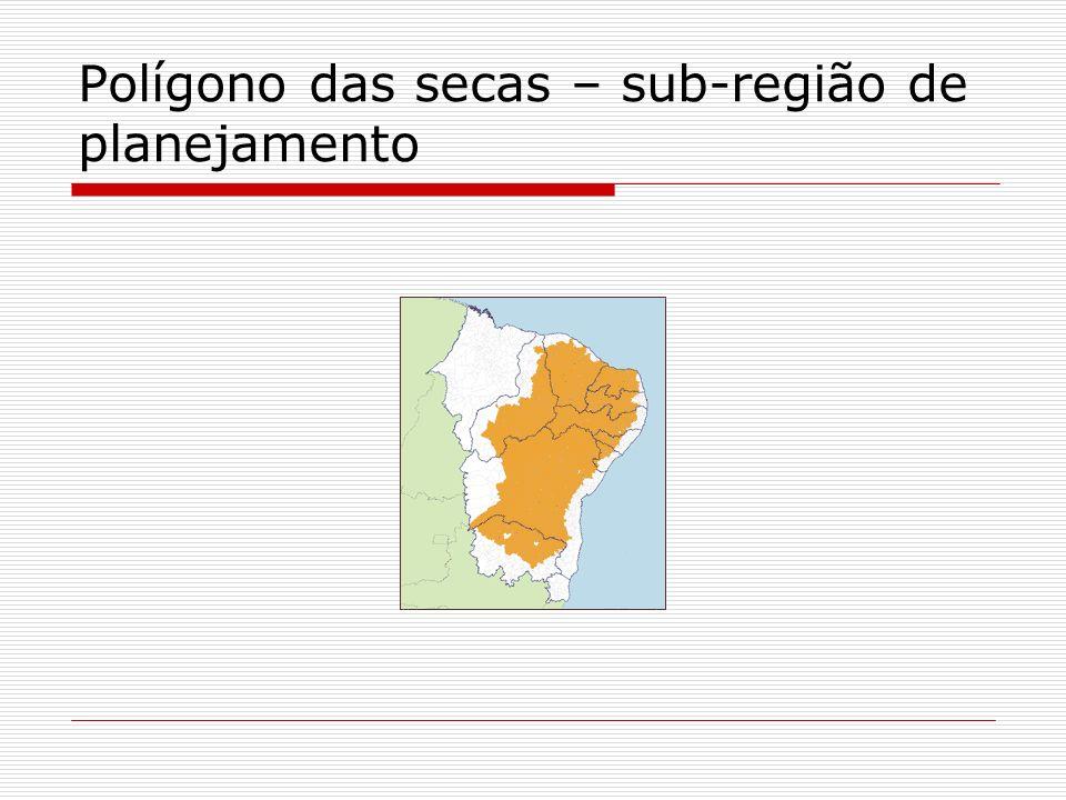 Polígono das secas – sub-região de planejamento