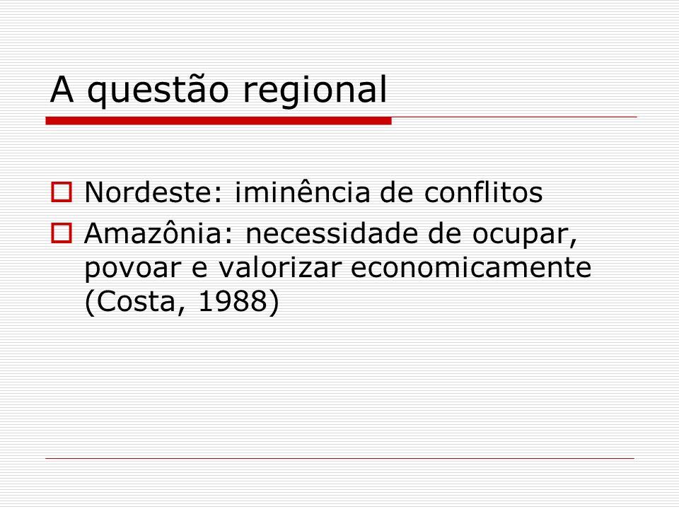 A política regional para o Nordeste a modernização conservadora e a pseudo-reforma agrária industrialização, urbanização e metropolização a produção de ilhas de modernidade