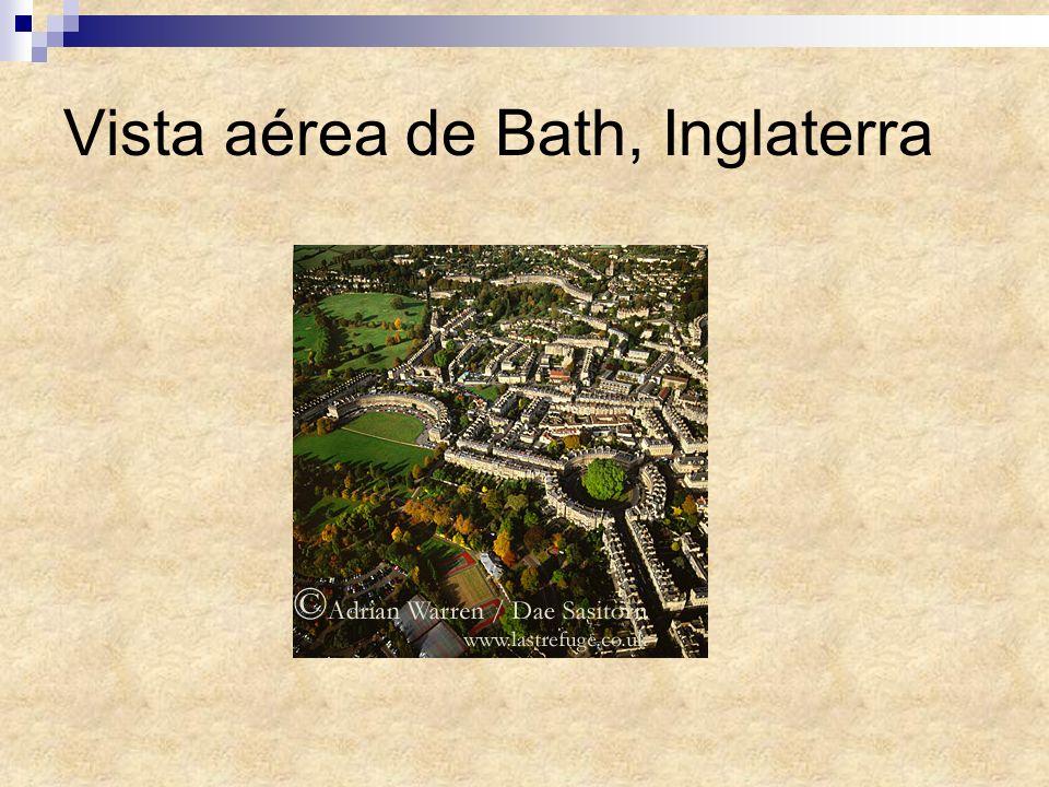 Vista aérea de Bath, Inglaterra