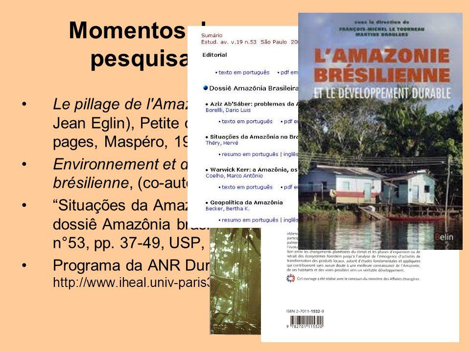 Momentos de uma carreira de pesquisador na Amazônia Le pillage de l'Amazonie (en collaboration avec Jean Eglin), Petite collection Maspero n° 266, 201