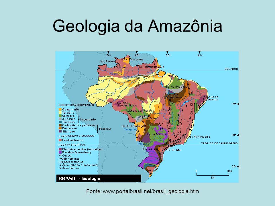 Geologia da Amazônia Fonte: www.portalbrasil.net/brasil_geologia.htm
