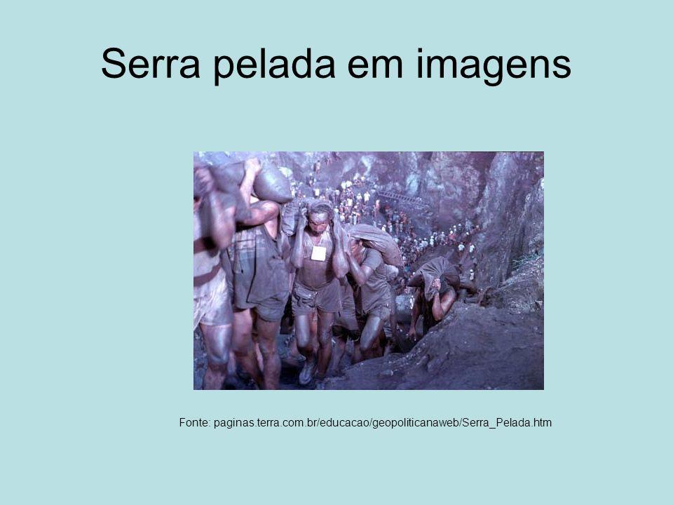 Serra pelada em imagens Fonte: paginas.terra.com.br/educacao/geopoliticanaweb/Serra_Pelada.htm