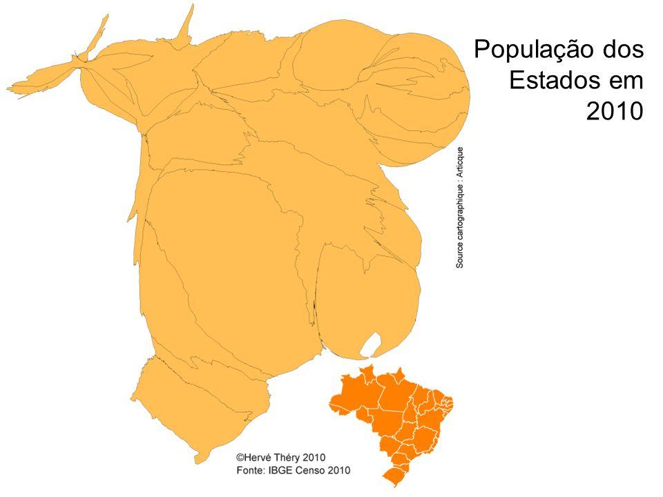 População dos Estados em 2010