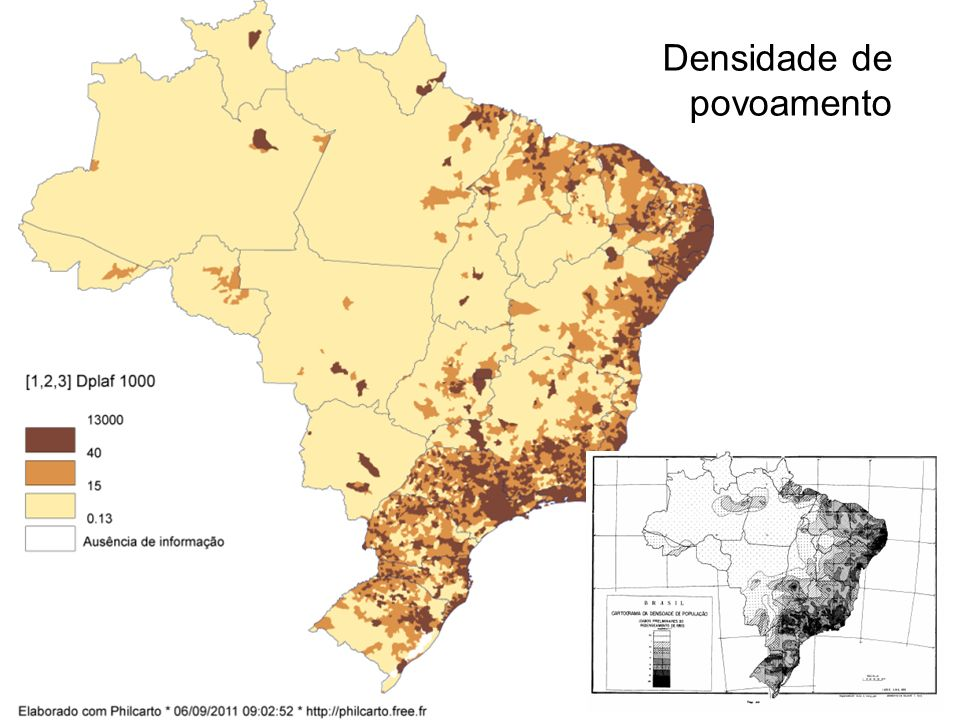 Densidade de população em 2010