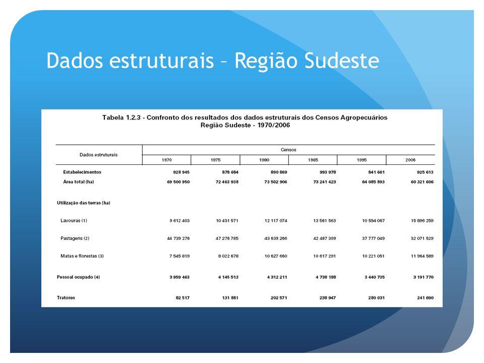 Dados estruturais – Região Sudeste