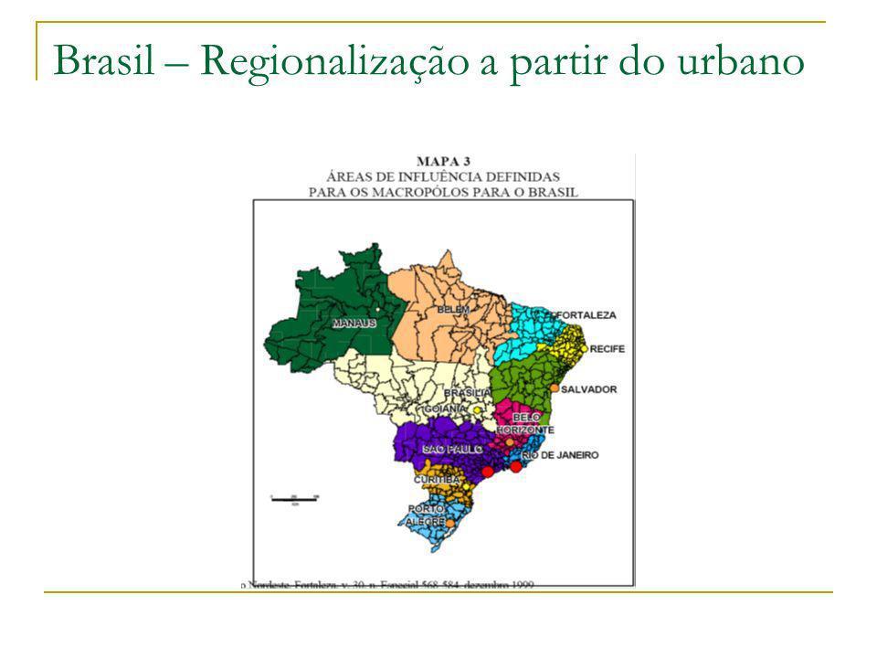 Brasil – Regionalização a partir do urbano