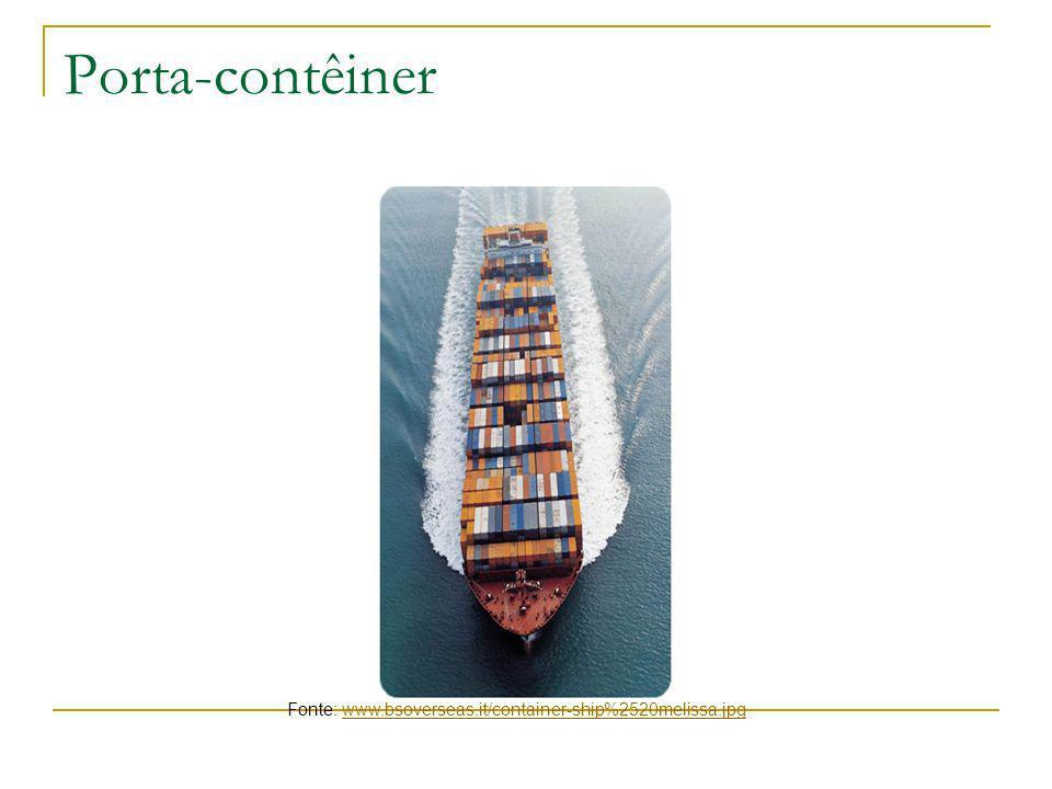 Porta-contêiner Fonte: www.bsoverseas.it/container-ship%2520melissa.jpgwww.bsoverseas.it/container-ship%2520melissa.jpg