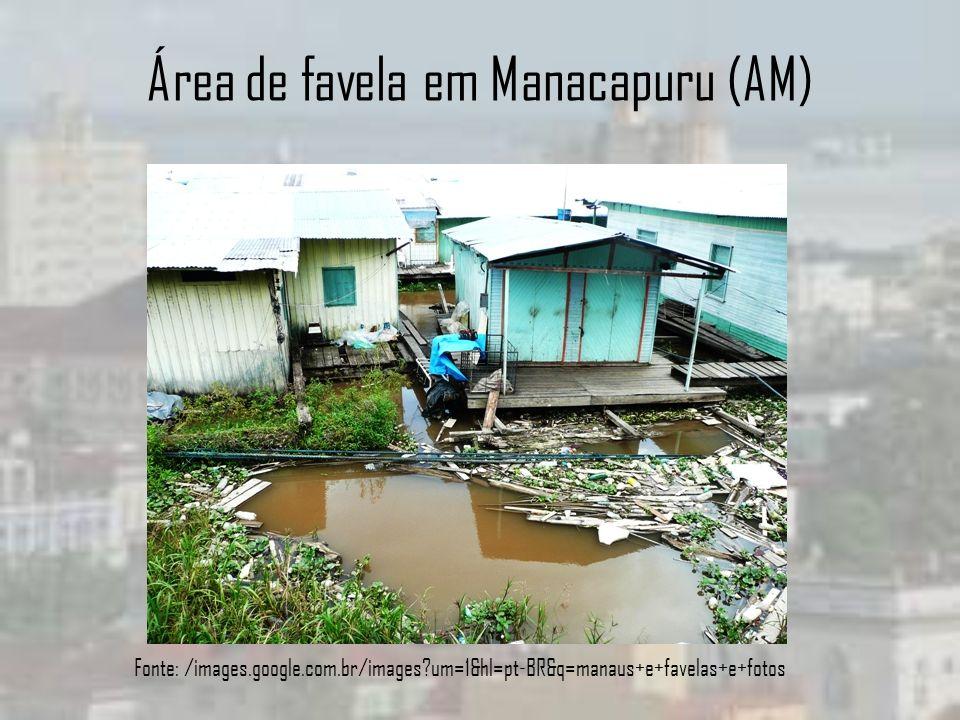 Área de favela em Manacapuru (AM) Fonte: /images.google.com.br/images?um=1&hl=pt-BR&q=manaus+e+favelas+e+fotos