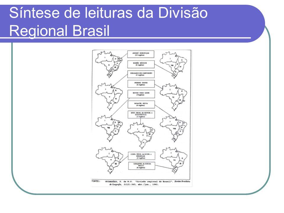 Síntese de leituras da Divisão Regional Brasil
