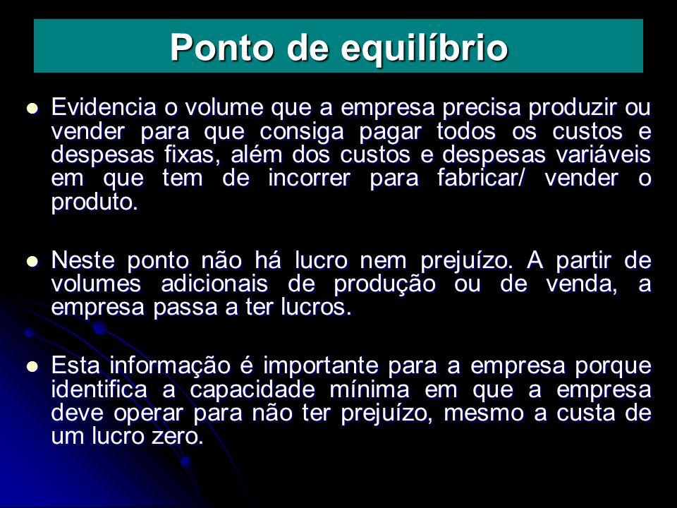 EXEMPLO: Situação Atual Aumento de 10% nas quantidades Vendidas 100.000 x 6.00 = $ 600.000 110.000 x 6.00 = $ 660.000 (-) CV 100.000 x 3.00 = $ 300.000 110.000 x 3.00 = $ 330.000 MC $ 300.000 330.000 MC $ 300.000 330.000 (-) CF $ 90.000 $ 90.000 LUCRO $210.000 $ 240.000 LUCRO $210.000 $ 240.000 % aumento nos lucros $ 240.000 / 210.000 = 14% % aumento nos lucros $ 240.000 / 210.000 = 14% % aumento nas vendas $ 660.00 / 600.000 = 10% % aumento nas vendas $ 660.00 / 600.000 = 10% GAO = 14% = 1,4 GAO = 14% = 1,4 10% 10%