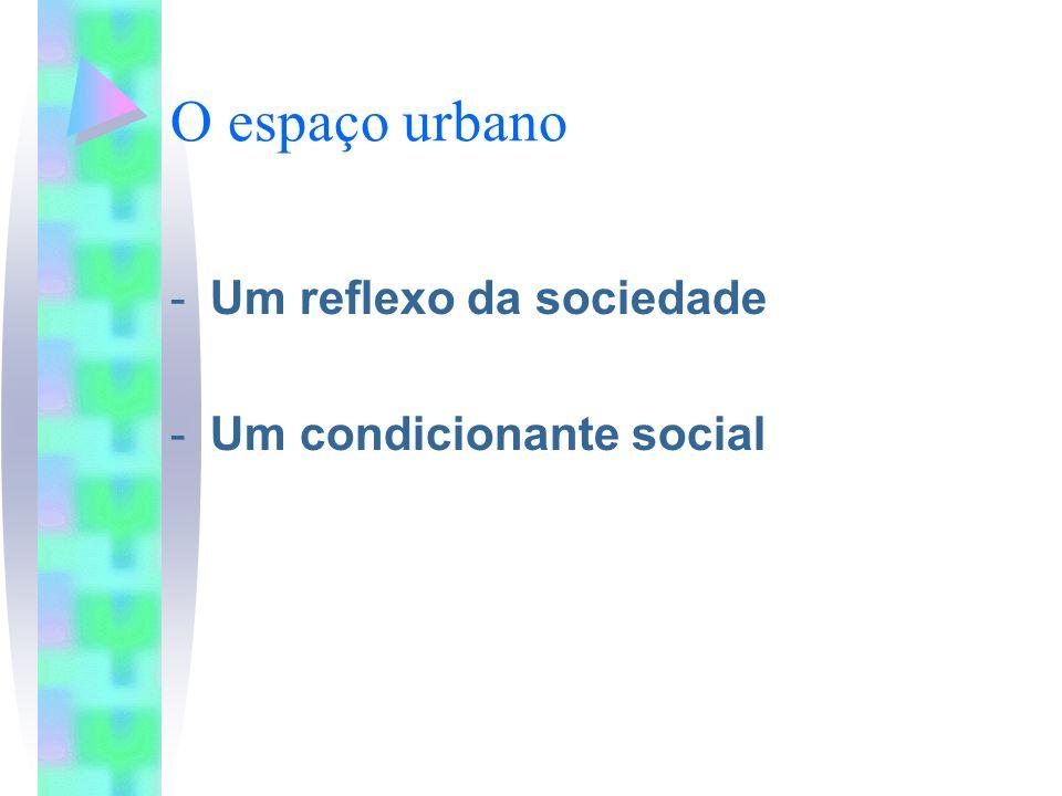 O espaço urbano -Um reflexo da sociedade -Um condicionante social