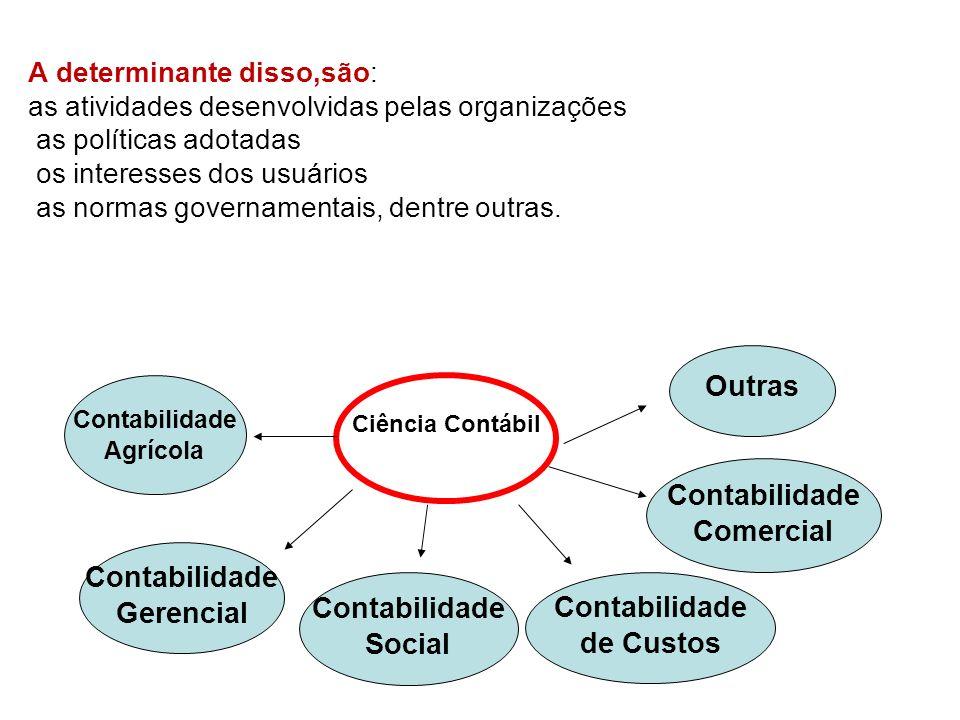 A determinante disso,são: as atividades desenvolvidas pelas organizações as políticas adotadas os interesses dos usuários as normas governamentais, de