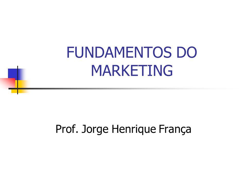 FUNDAMENTOS DO MARKETING Prof. Jorge Henrique França