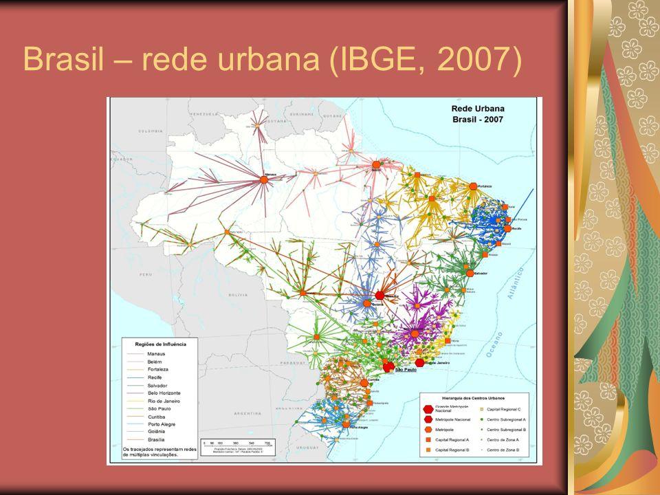 Brasil – redes de transportes (malha aérea, rodovias federais e ferrovias ) Fonte: www.transportes.gov.br www.turismo.gov.br