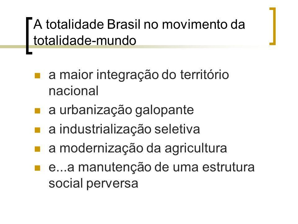 A urbanização brasileira Fonte: IBGE (2010).