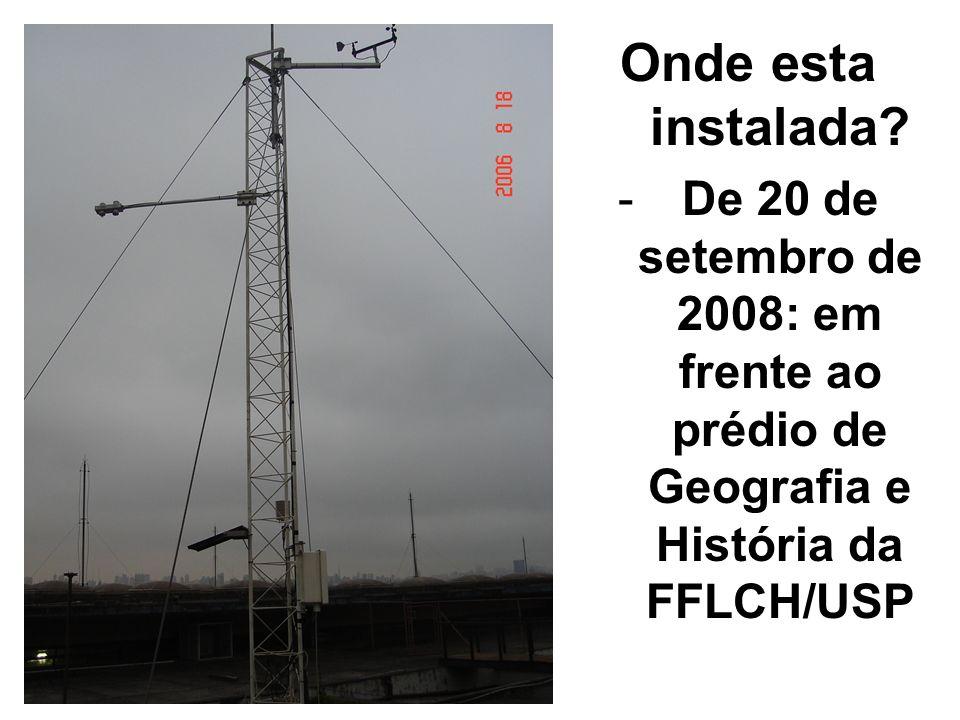 Onde esta instalada? -De 20 de setembro de 2008: em frente ao prédio de Geografia e História da FFLCH/USP