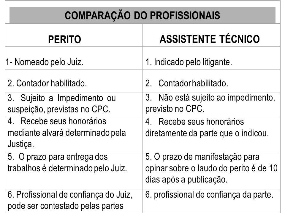 19 CAMPOS DE ATUAÇÃO DO PERITO CONTADOR - Perito Judicial - Assistente Técnico (autor ou do réu) - Consultor dos Srs. Advogados - Policial Especializa
