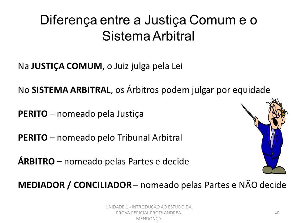 PERÍCIA ARBITRAL Perícia arbitral é realizada no juízo arbitral, instância decisória criada pela vontade das partes, não sendo enquadrável em nenhuma