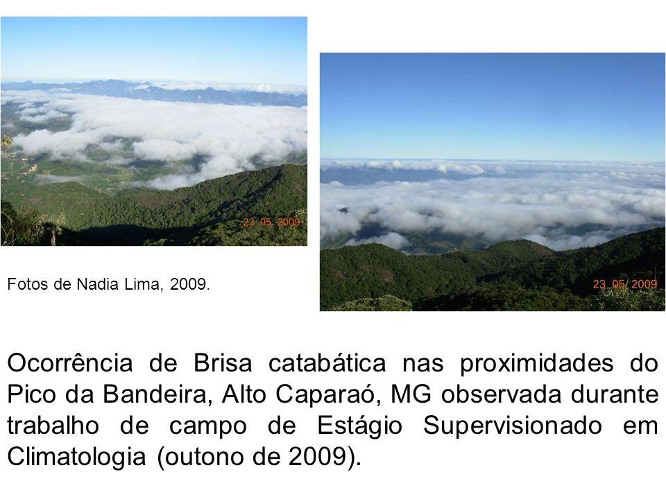 Ocorrência de Brisa catabática nas proximidades do Pico da Bandeira, Alto Caparaó, MG observada durante trabalho de campo de Estágio Supervisionado em