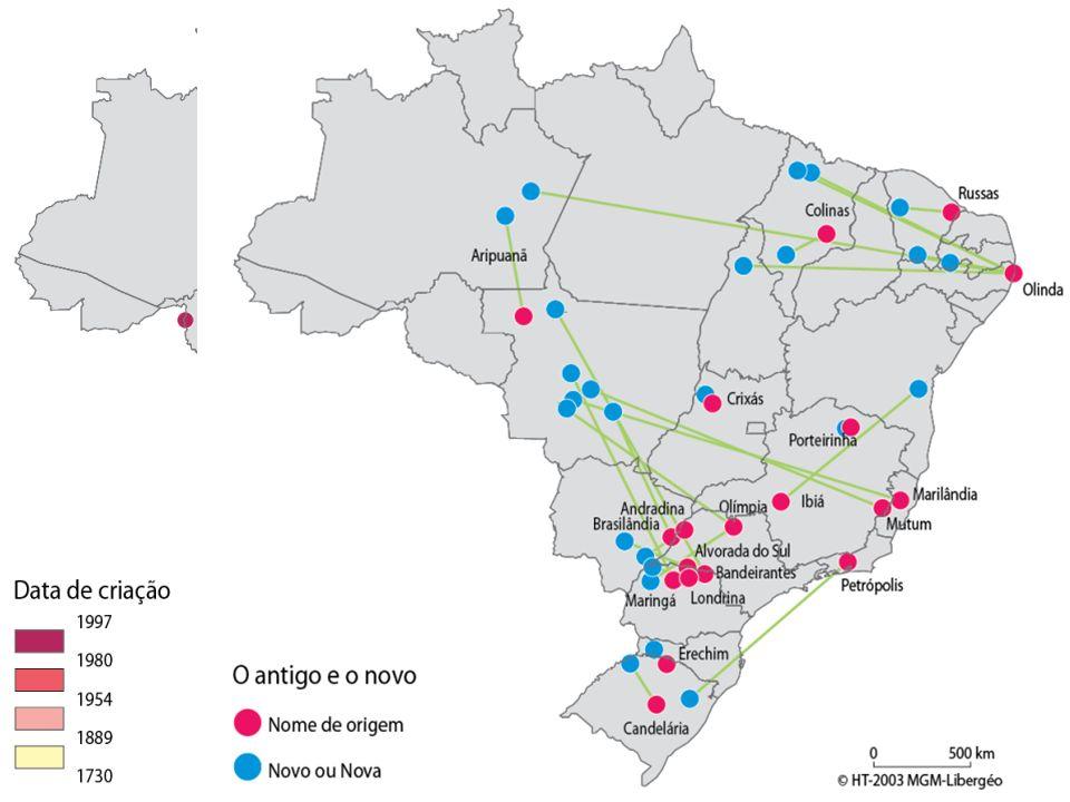 Os novos municípios