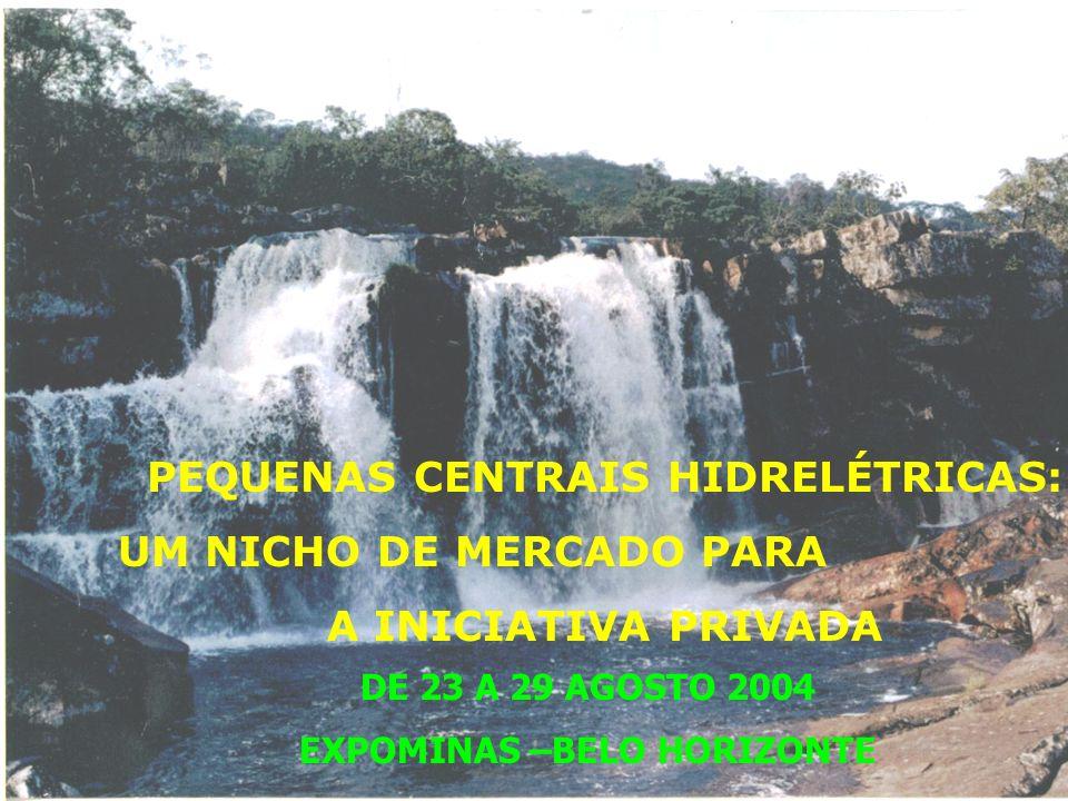 PEQUENAS CENTRAIS HIDRELÉTRICAS: UM NICHO DE MERCADO PARA A INICIATIVA PRIVADA DE 23 A 29 AGOSTO 2004 EXPOMINAS –BELO HORIZONTE