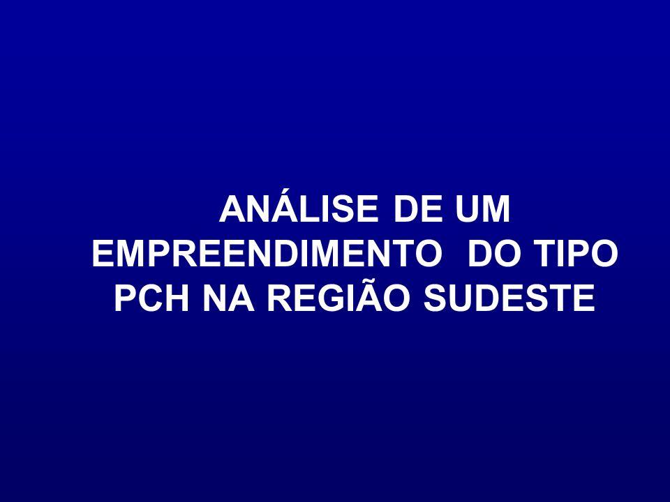 ANÁLISE DE UM EMPREENDIMENTO DO TIPO PCH NA REGIÃO SUDESTE