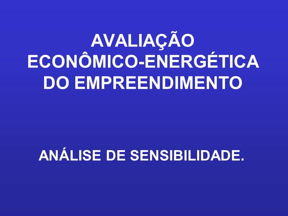 AVALIAÇÃO ECONÔMICO-ENERGÉTICA DO EMPREENDIMENTO ANÁLISE DE SENSIBILIDADE.