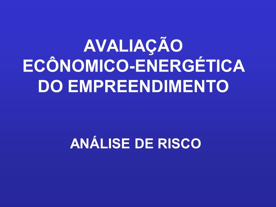 AVALIAÇÃO ECÔNOMICO-ENERGÉTICA DO EMPREENDIMENTO ANÁLISE DE RISCO