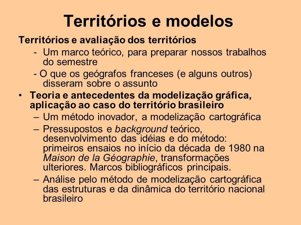 Territórios e avaliação dos territórios -Um marco teórico, para preparar nossos trabalhos do semestre - O que os geógrafos franceses (e alguns outros)