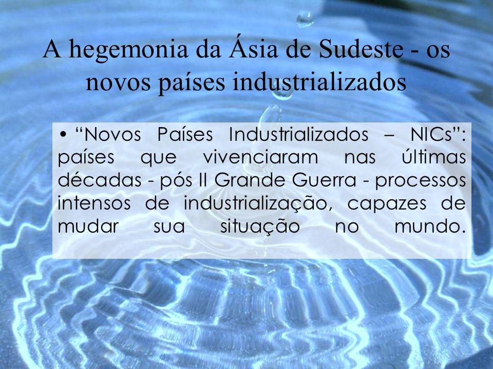 Novos Países Industrializados – NICs: países que vivenciaram nas últimas décadas - pós II Grande Guerra - processos intensos de industrialização, capa