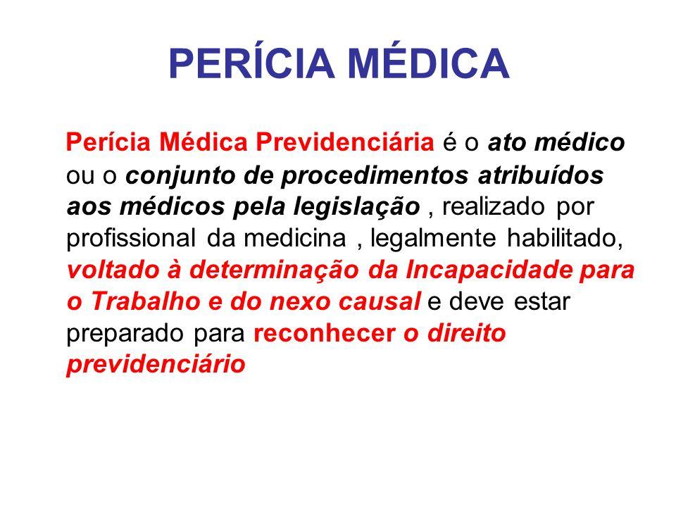 PERÍCIA MÉDICA Perito médico é a designação genérica do profissional que atua, realizando exames de natureza médica em procedimentos administrativos e processos judiciais, securitários e previdenciários, atribuindo-se esta designação ao médico investido por força de cargo/função pública, ou nomeação judicial ou administrativa.