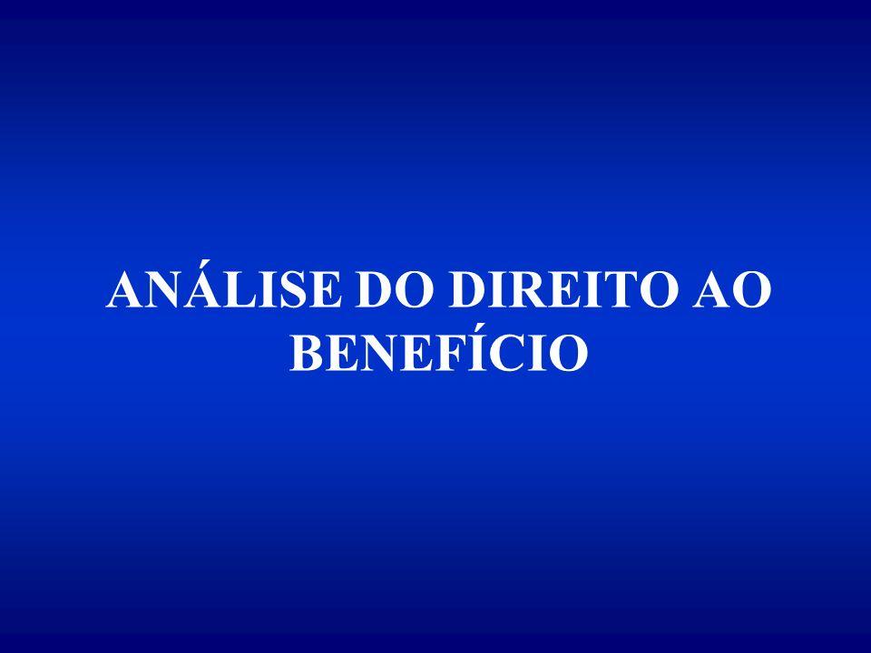 ANÁLISE DO DIREITO AO BENEFÍCIO