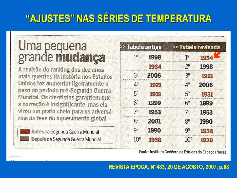 AJUSTES NAS SÉRIES DE TEMPERATURA REVISTA ÉPOCA, N°483, 20 DE AGOSTO, 2007, p.68