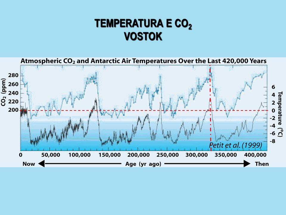TEMPERATURA E CO 2 VOSTOK