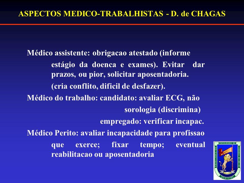 ASPECTOS MEDICO-TRABALHISTAS - D.