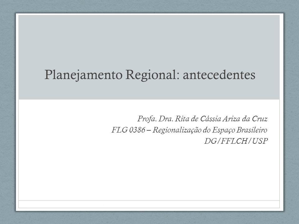Estado e planejamento: considerações preliminares para que serve o Estado para que serve o planejamento estado e planejamento no Brasil planejamento regional