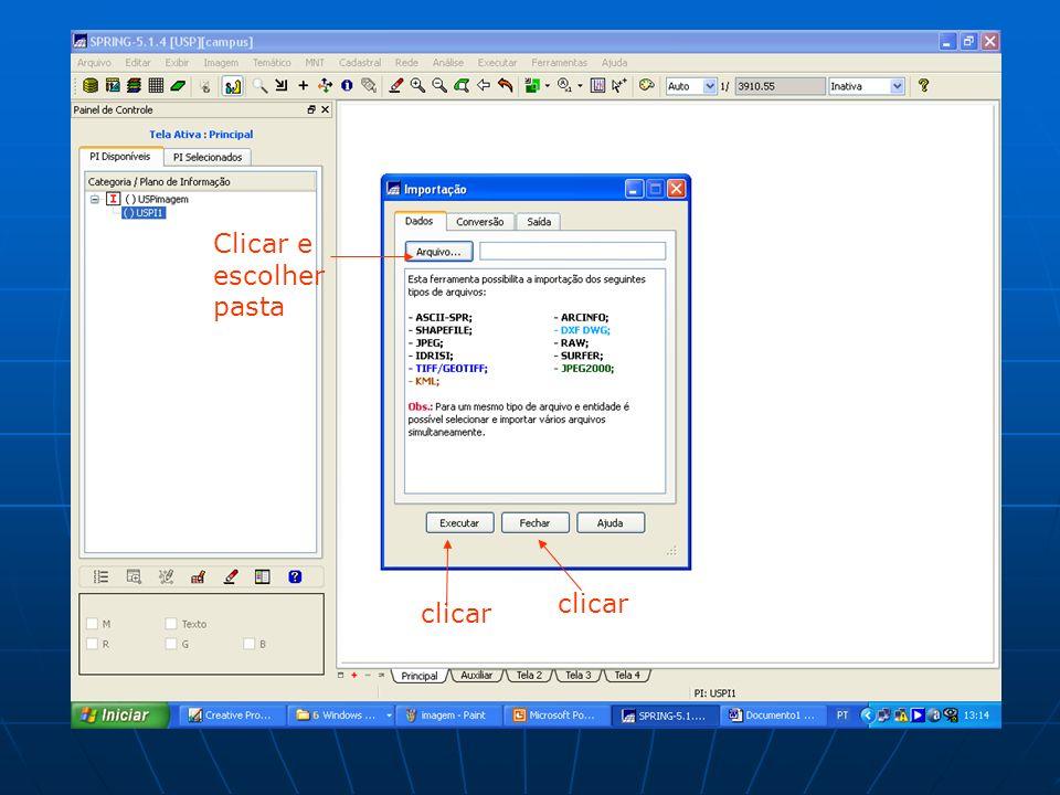 Clicar e escolher pasta clicar