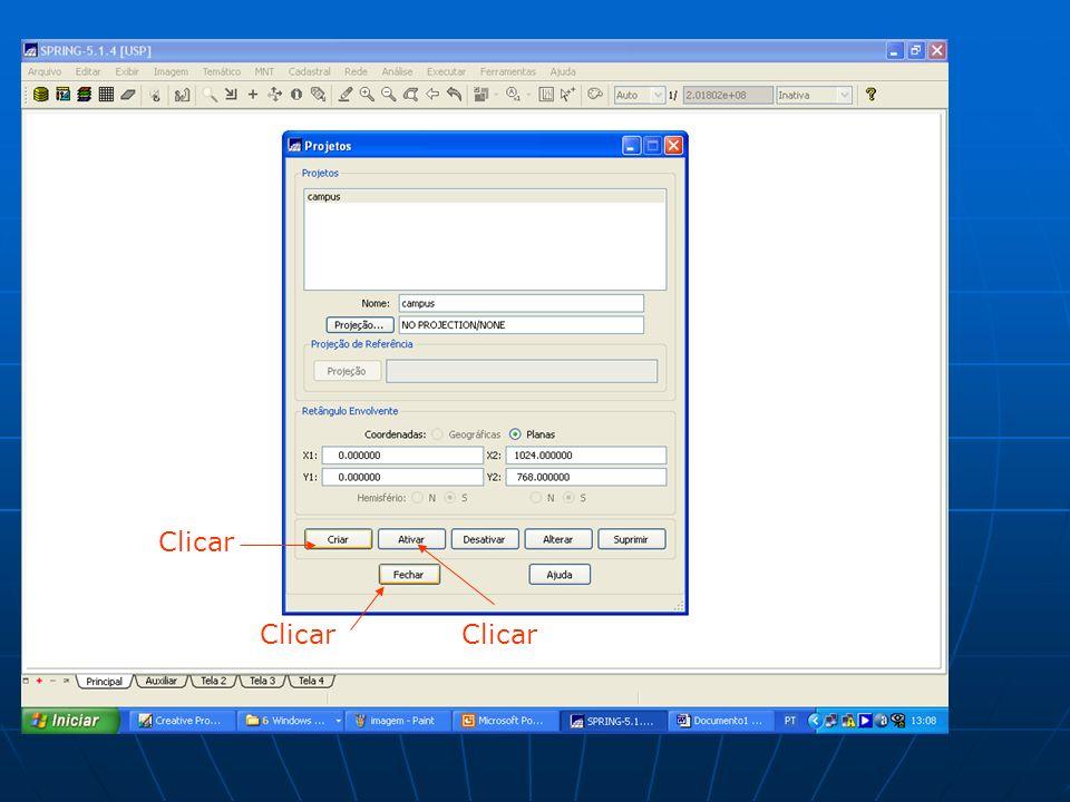 Clicar. selecionar preencher clicar