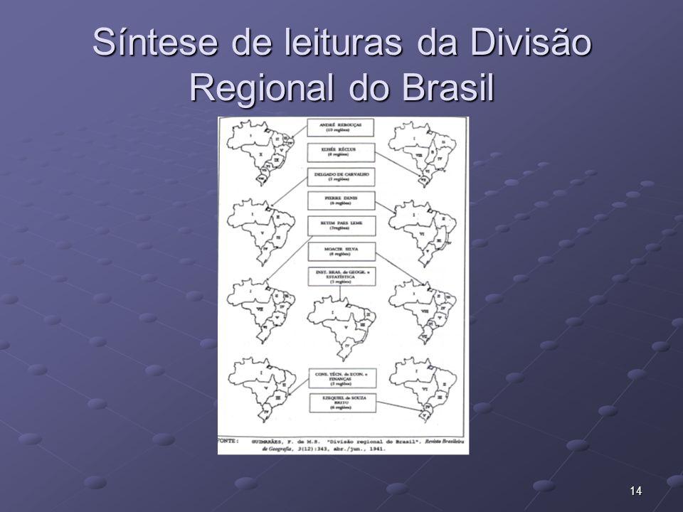 14 Síntese de leituras da Divisão Regional do Brasil