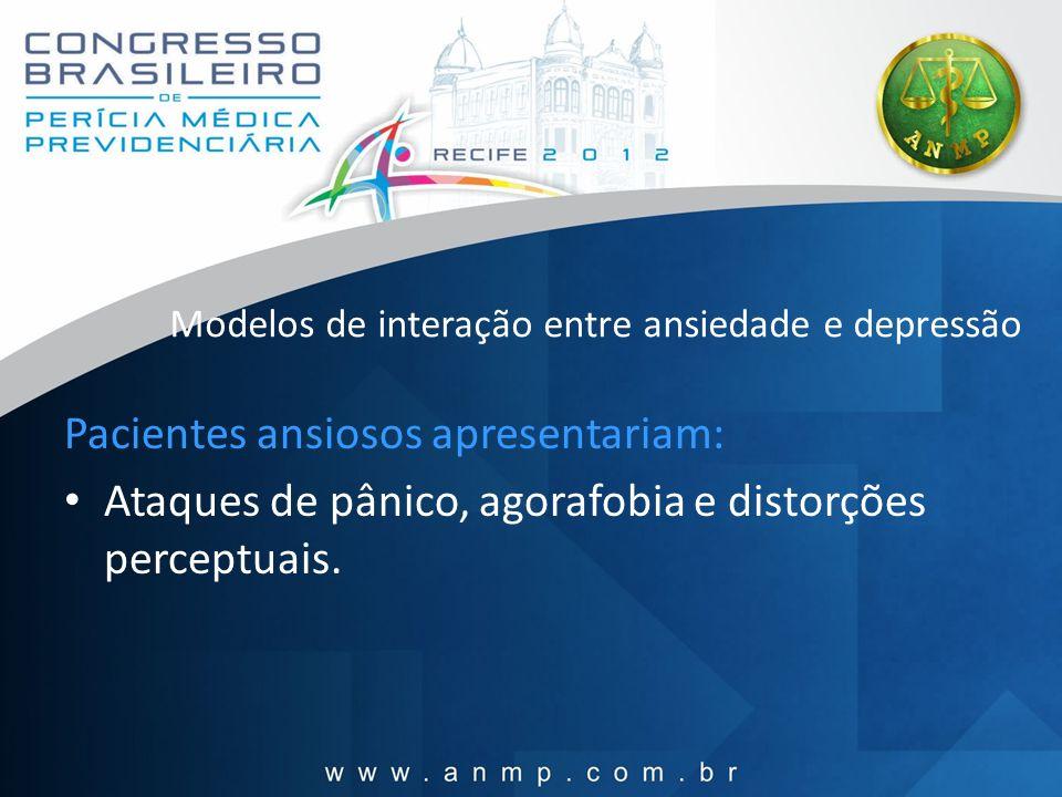 Tratamento Terapia cognitiva Ansiolíticos (alprazolam, buspirona) Antidepressivos (venlafaxina) Ambos