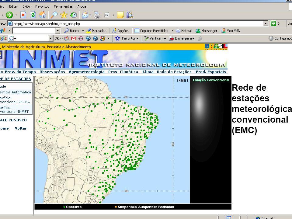 Conceitos Iniciais Rede de estações meteorológicas convencional (EMC)