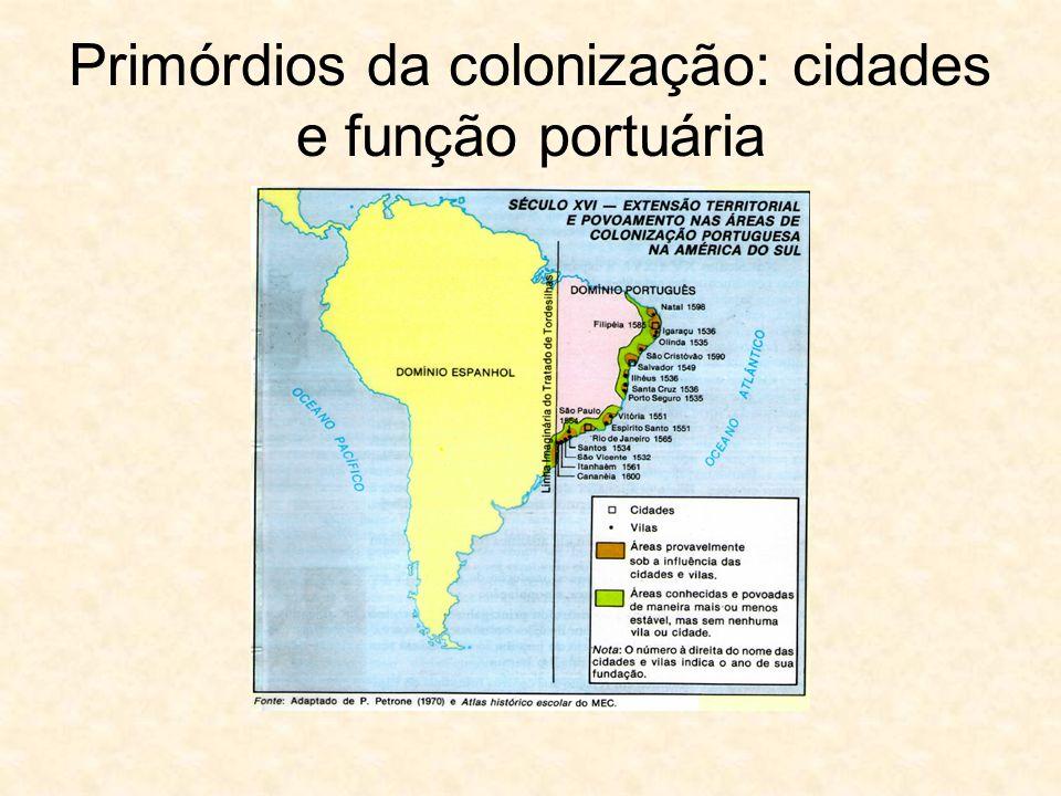 Primórdios da colonização: cidades e função portuária