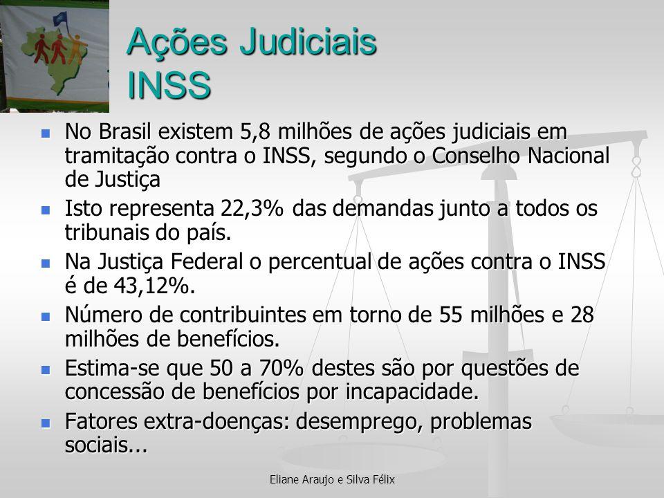 Ações Judiciais INSS No Brasil existem 5,8 milhões de ações judiciais em tramitação contra o INSS, segundo o Conselho Nacional de Justiça No Brasil ex