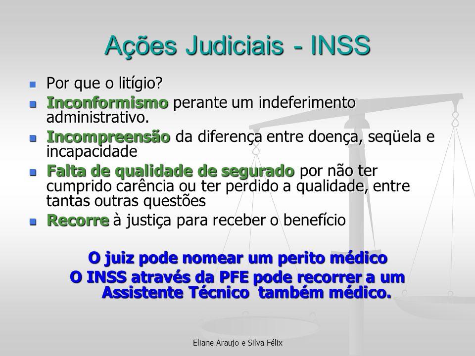Ações Judiciais - INSS Por que o litígio? Por que o litígio? Inconformismo perante um indeferimento administrativo. Inconformismo perante um indeferim