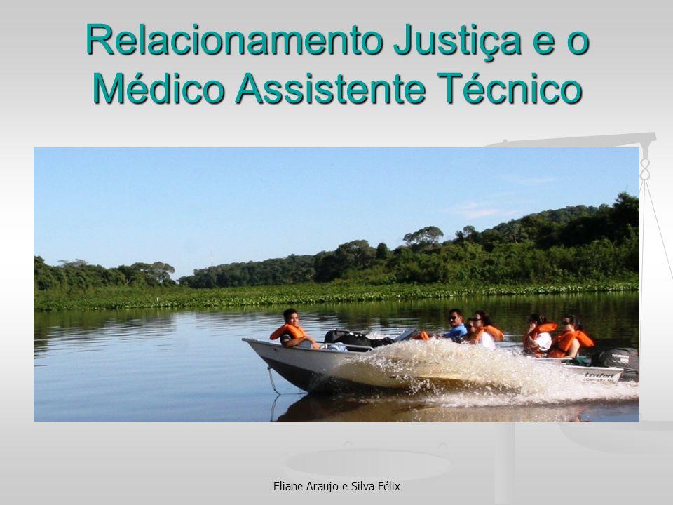 Relacionamento Justiça e o Médico Assistente Técnico Eliane Araujo e Silva Félix