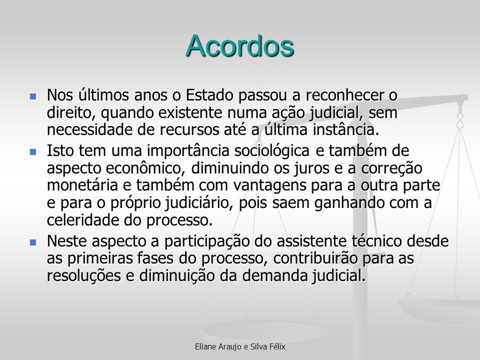 Acordos Nos últimos anos o Estado passou a reconhecer o direito, quando existente numa ação judicial, sem necessidade de recursos até a última instânc