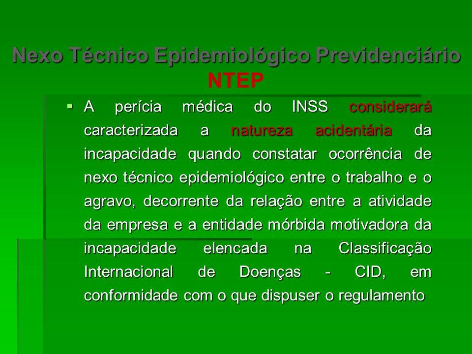 Nexo Técnico Previdenciário Nexo Profissional / trabalho- Doença profissional ou do trabalho Nexo Profissional / trabalho- Doença profissional ou do t