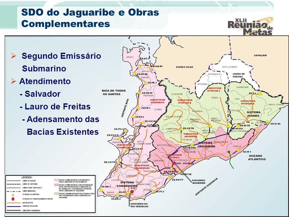 Segundo Emissário Submarino Atendimento - Salvador - Lauro de Freitas - Adensamento das Bacias Existentes SDO do Jaguaribe e Obras Complementares
