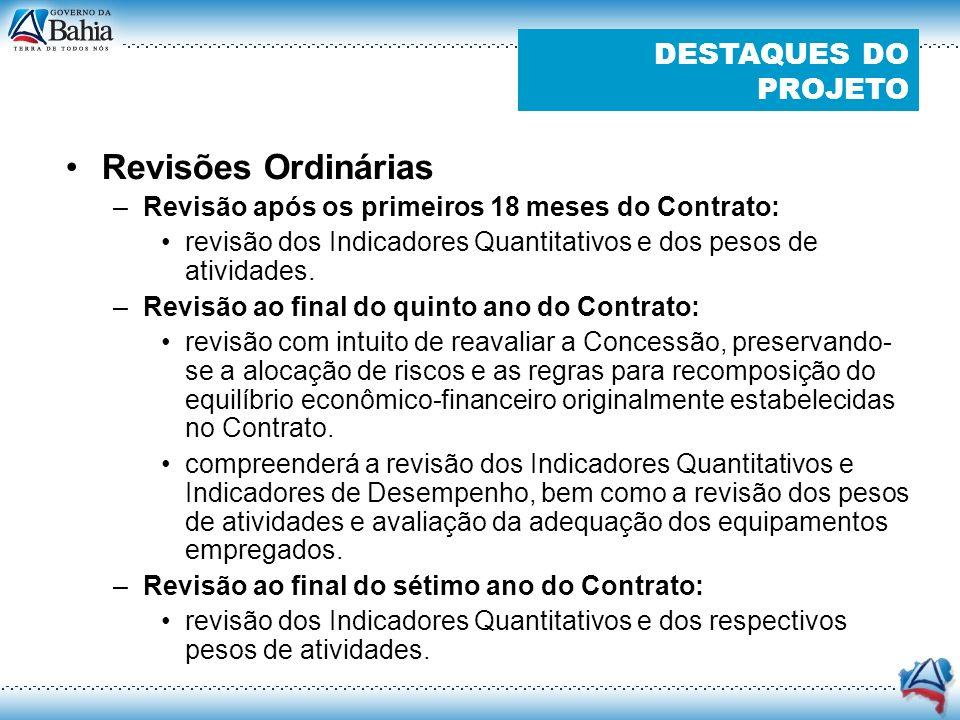 CONTRAPRESTAÇÃO = PARCELA METAS QUANTITATIVAS (70%) PARCELA INDICADORES DE DESEMPENHO(30%) + Penalização: não cumprimento de níveis mínimos de produção e por operação fora dos padrões de desempenho Parcela Metas Quantitativas (70%) Parcela Indicadores de Desempenho (30%): nível compatível com incentivo à qualidade de gestão O SISTEMA DE PAGAMENTO COM FOCO EM RESULTADO
